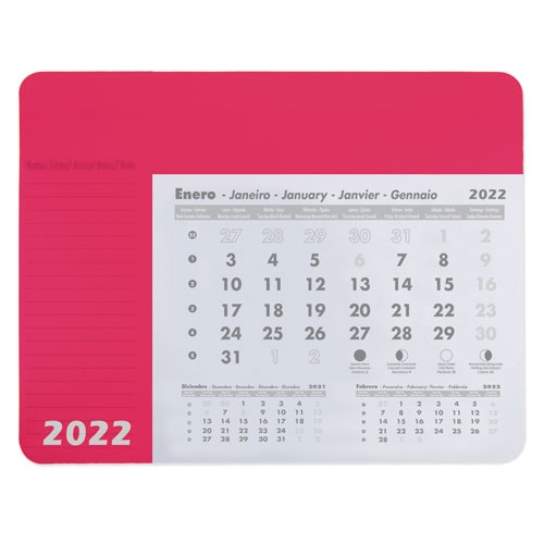 ALFOMBRILLA CALENDARIO FUCSIA