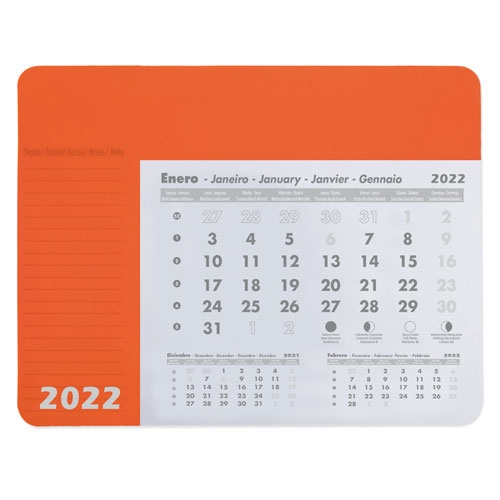 ALFOMBRILLA CALENDARIO NARANJA